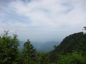 稜線からの眺め