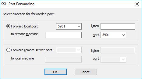 SSHポート転送でVNC